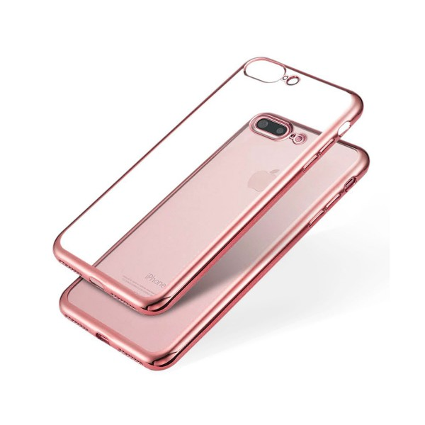 Jc carcasa transparente con borde rosa apple iphone 7/8