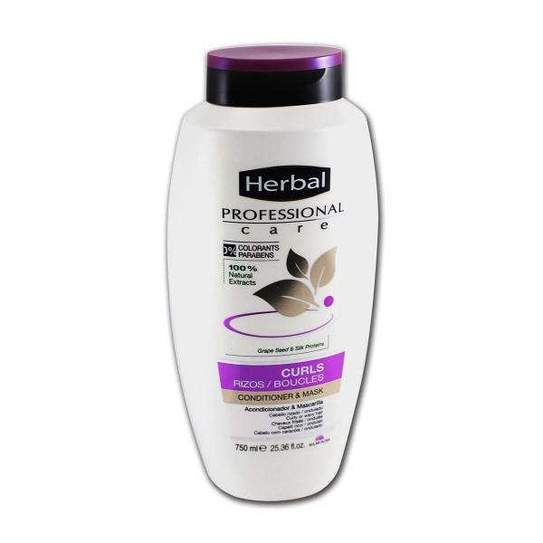 Herbal professional care curls acondicionador mascarilla 750ml