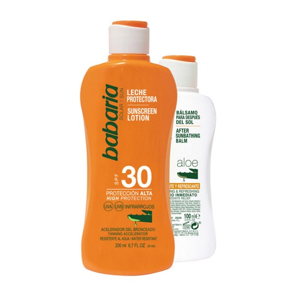 Babaria solar leche aloe vera spf30 200ml + after sun 100ml