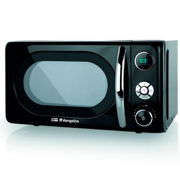 Orbegozo mig2044 microondas de 700w digital con grill de 20 litros de capacidad y diseño en negro