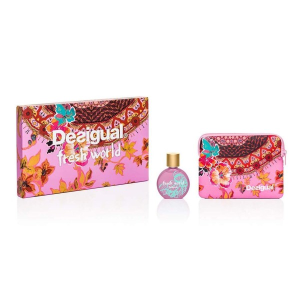 Desigual fresh world eau de toilette 100ml vaporizador + neceser