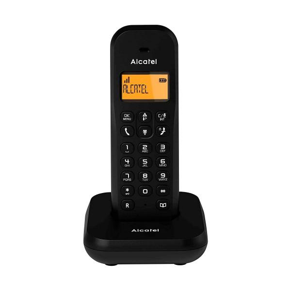 Alcatel e155 negro teléfono fijo inalámbrico pantalla retroiluminada