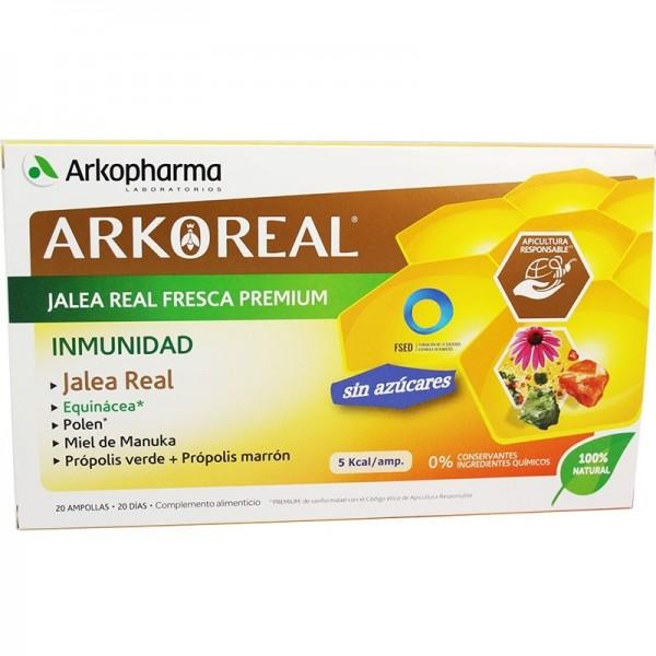 ARKOREAL JALEA REAL INMUNIDAD SIN AZUCARES 20 AMPOLLAS 15 ML