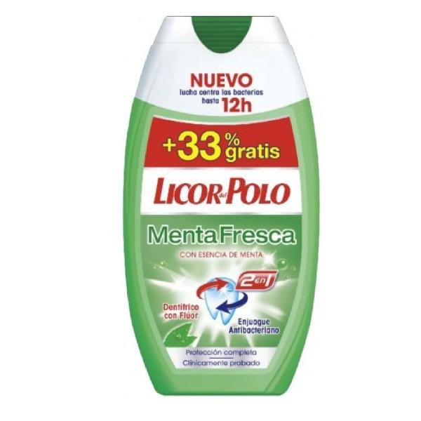 Licor del Polo dentífrico Menta Fresca 75 ml + 25 ml GRATIS